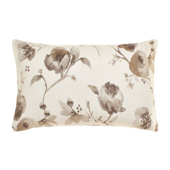 Portofino washed-effect floral pillowcase in 100% linen
