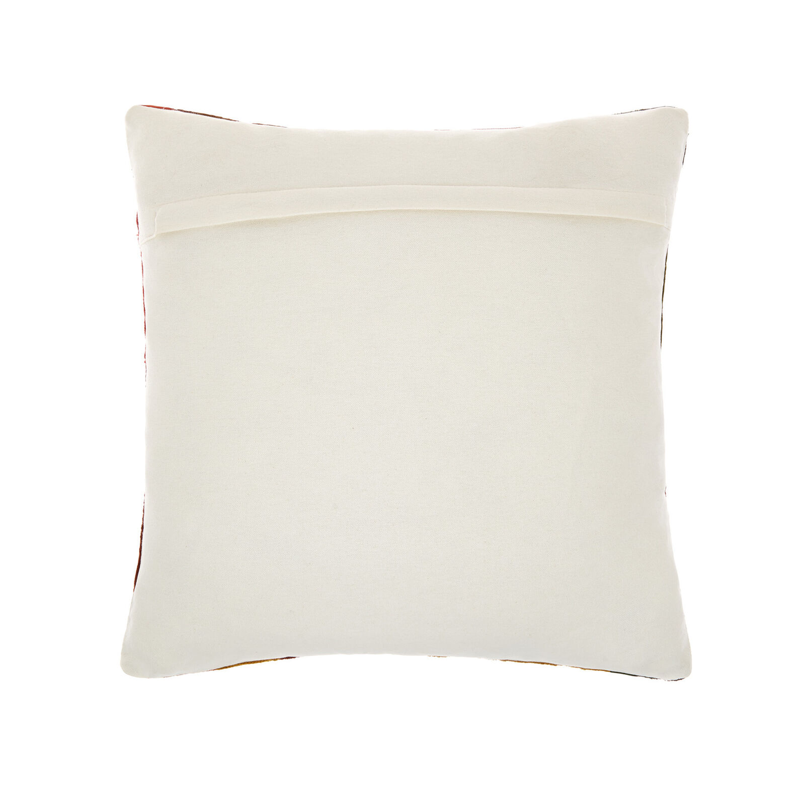 Cotton cushion with leaves embroidery 45x45cm