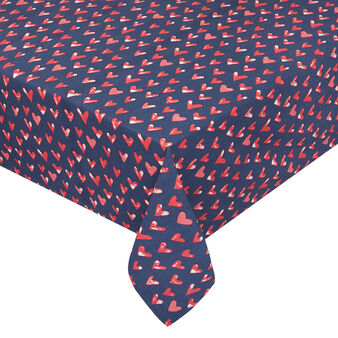 100% cotton tablecloth with heart print