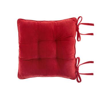Cuscino da sedia velluto di cotone tinta unita