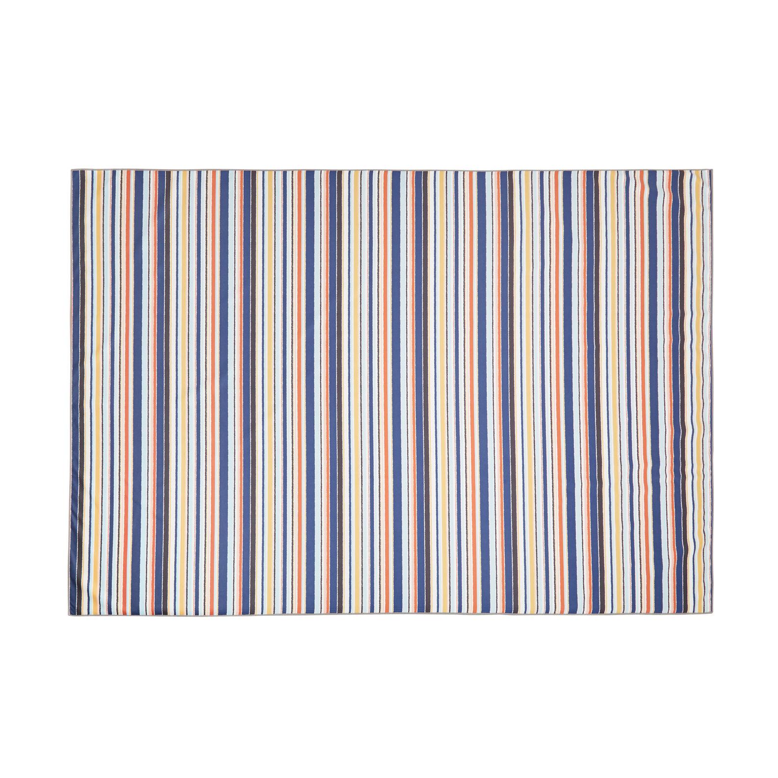 Striped microfibre bath sheet