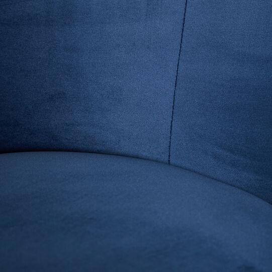 Blue Universe small velvet armchair