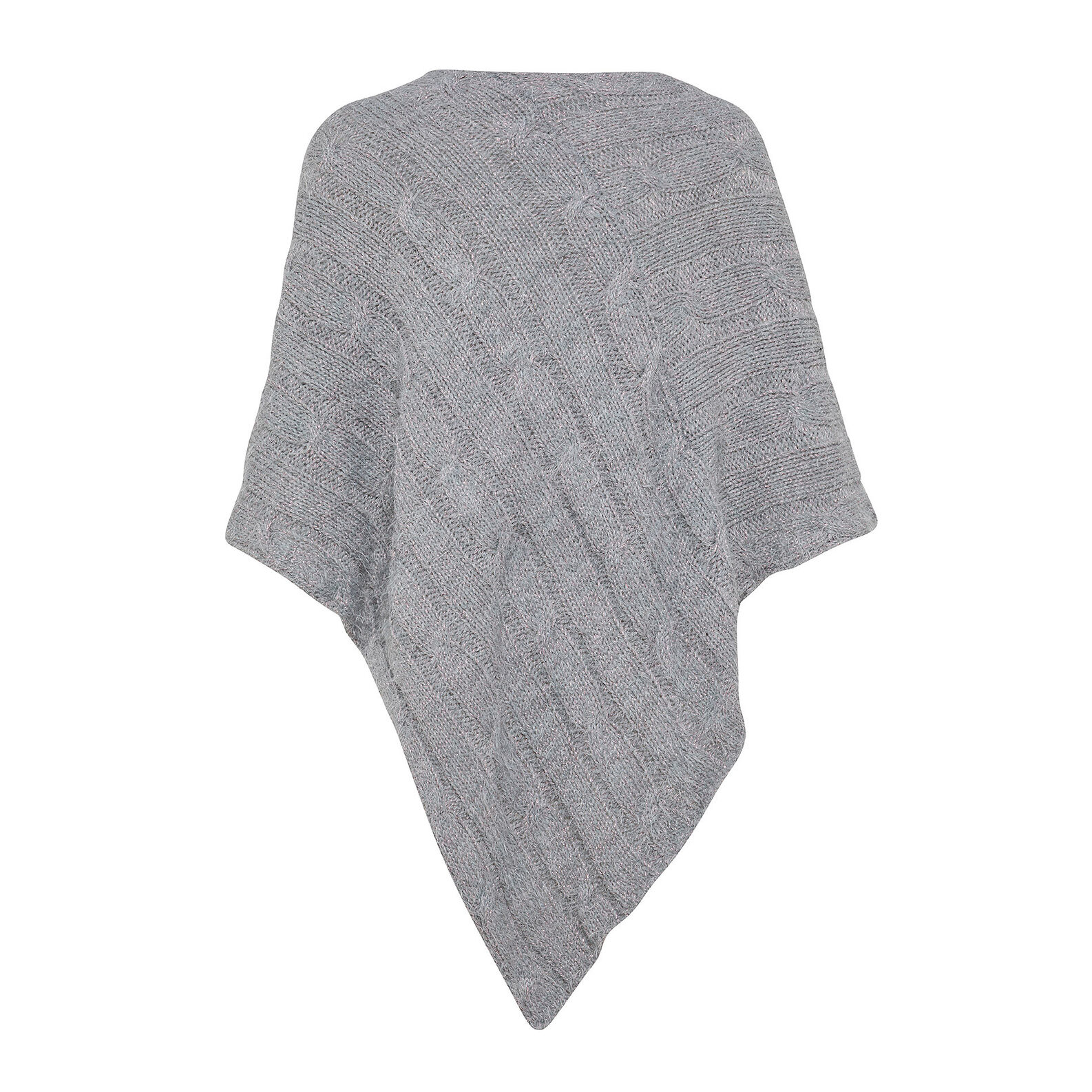 Koan knitted poncho scarf with lurex