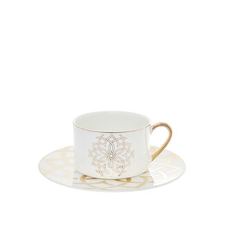 New bone China tea cup with Morocco decoration