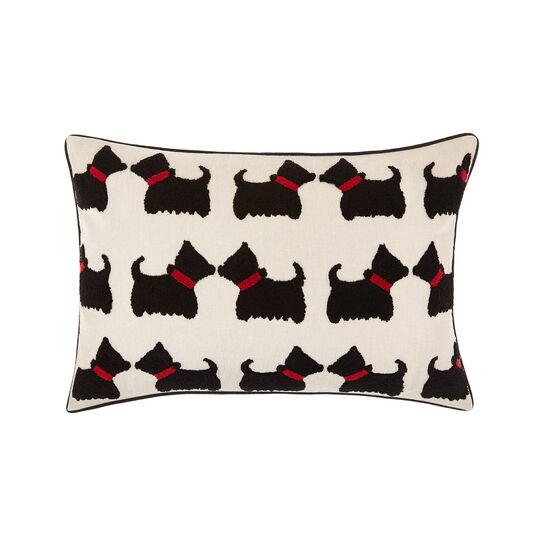 Cuscino con ricamo cani 35x50cm