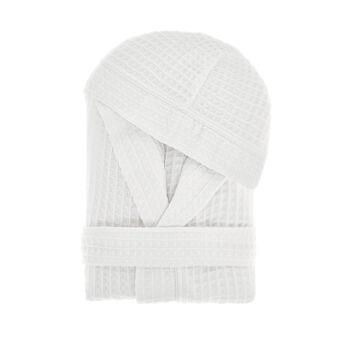 Pure cotton waffle weave bathrobe