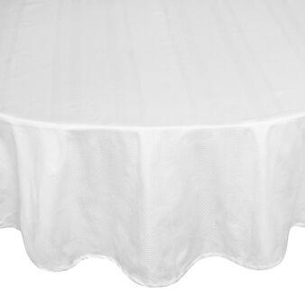 Zefiro oval tablecloth in 100% Egyptian cotton jacquard