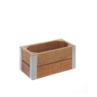 Cassetta legno e acciaio