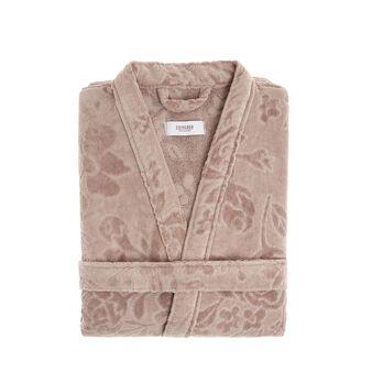 100% cotton bathrobe with floral design