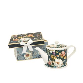 Teapot in new bone China with floral motif