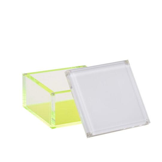 Box portafoto plastica dettagli fluo