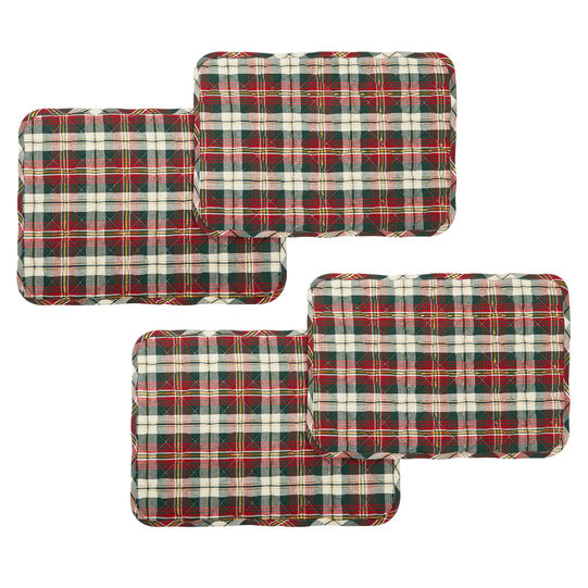 Set of 4 quilted placemats