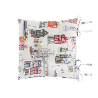 Cuscino da sedia puro cotone stampa Amsterdam
