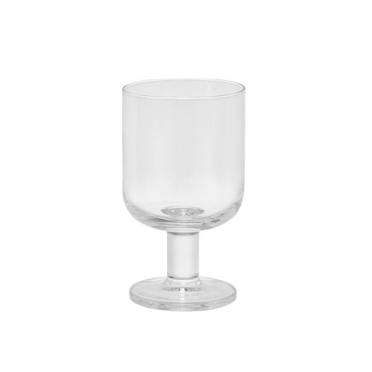 Set of 6 transparent glass wine goblets