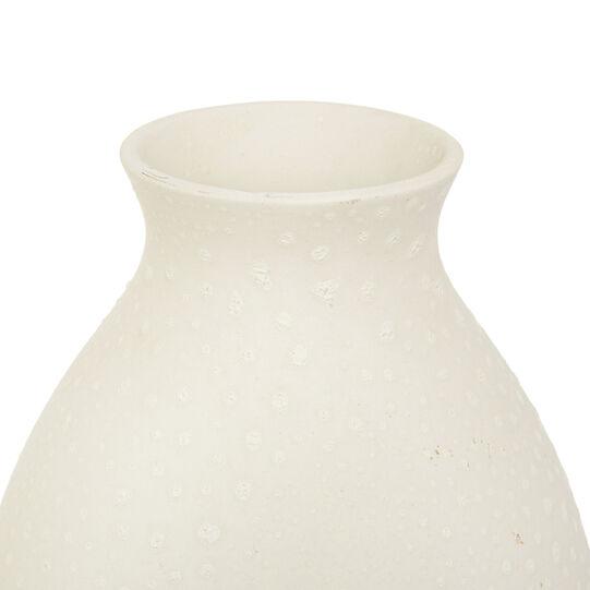Striped handmade ceramic vase