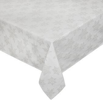 Tovaglia cotone e lurex stampa fiocchi di neve