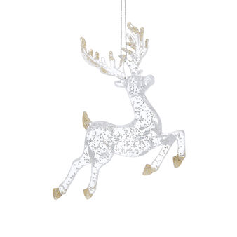 Addobbo cervo glitter