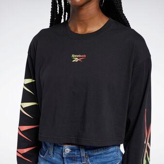 Stretch fabric sweatshirt with round neck
