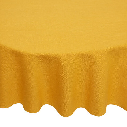 Solid colour tablecloth in 100% iridescent cotton
