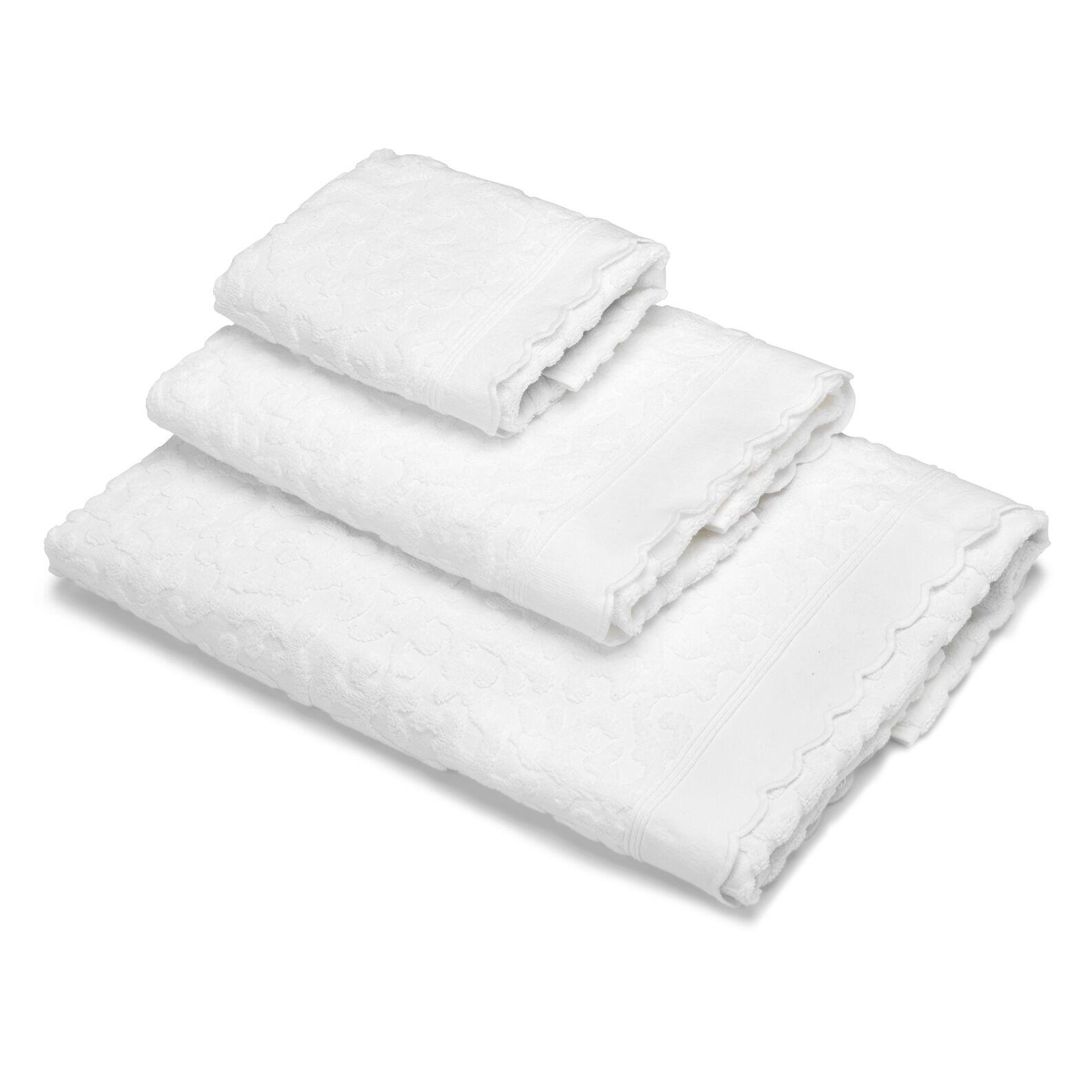 Asciugamano puro cotone trama coralli
