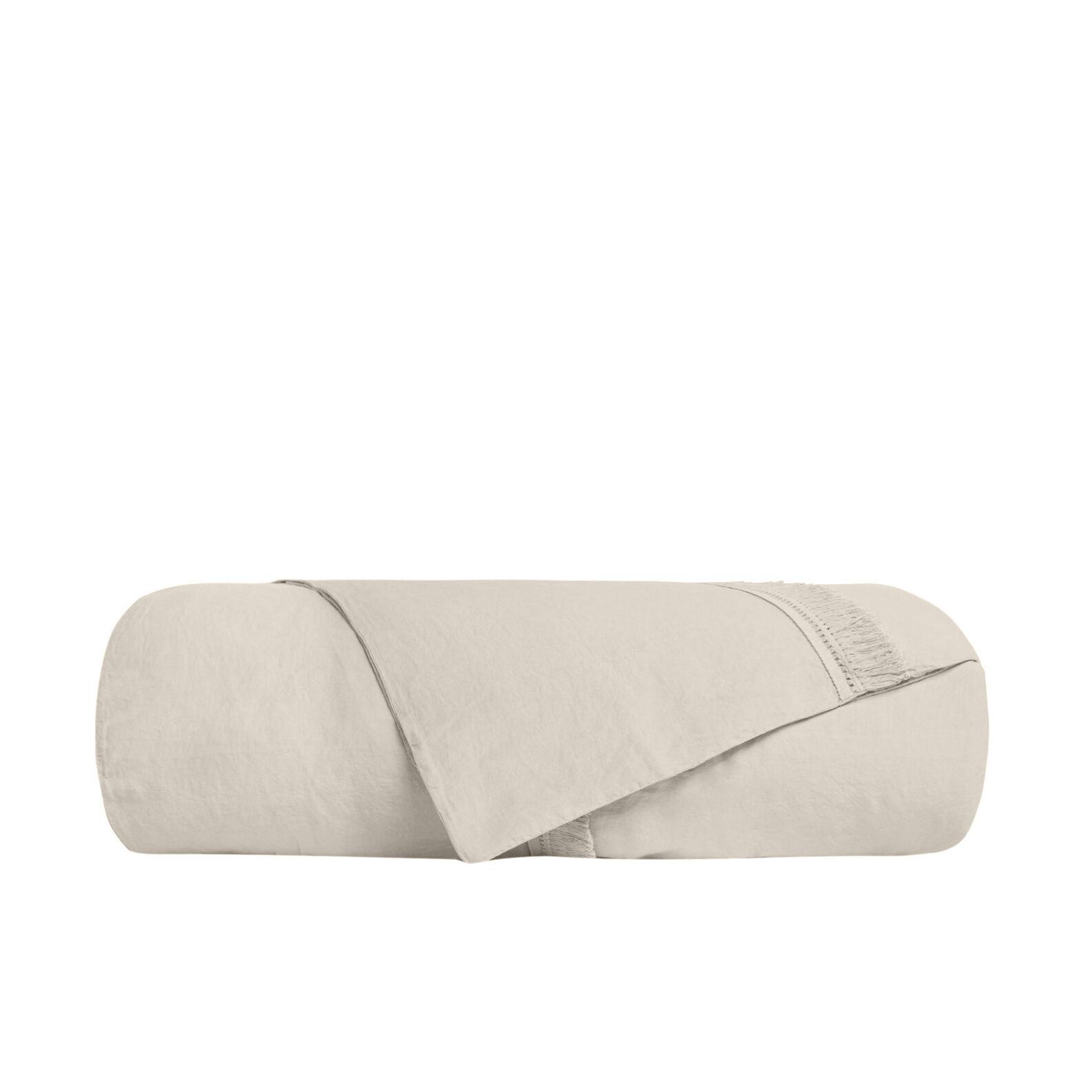 Solid colour cotton and linen blend duvet cover