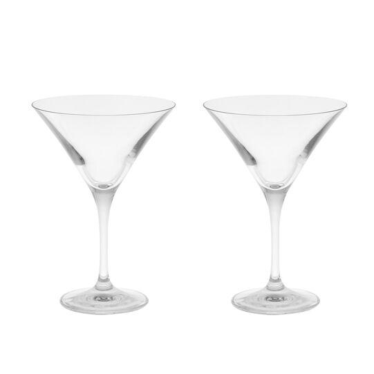 Set of 2 martini glass goblets