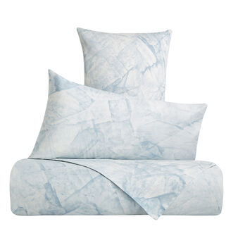 Cotton satin duvet cover set with marble pattern