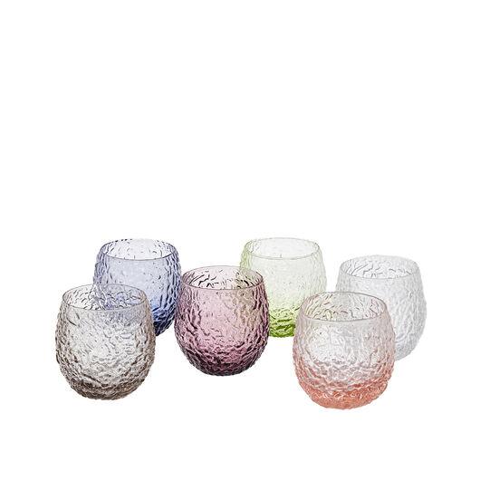 Set 6 bicchieri in vetro soffiato toscano