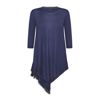 Koan top with fringed insert