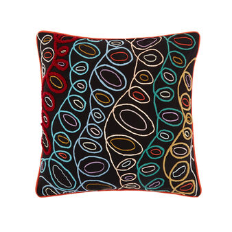 Cotton cushion with bubbles embroidery 45 x 45 cm