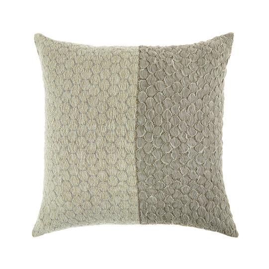 Linen blend jacquard cushion (45x45cm)