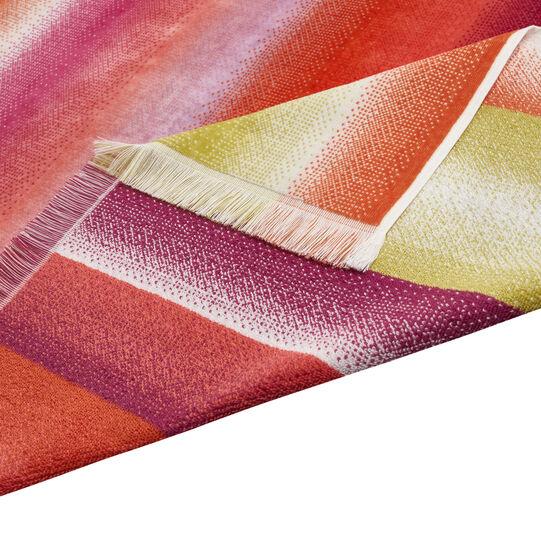 Velour cotton beach towel multiple striped