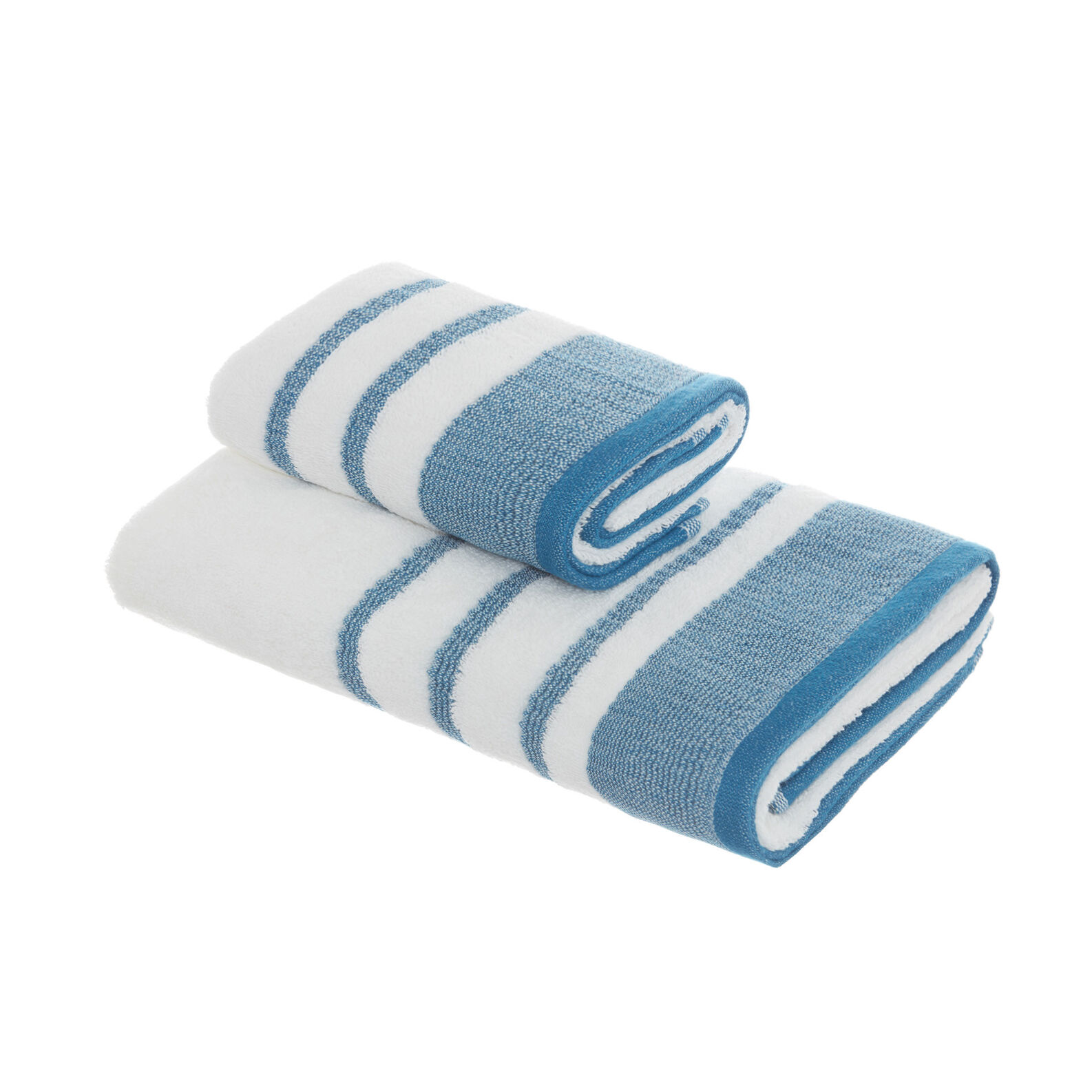 Cotton terry towel with embossed flounce