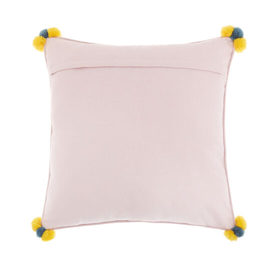 Cotton cushion with Spring embroidery 45x45cm