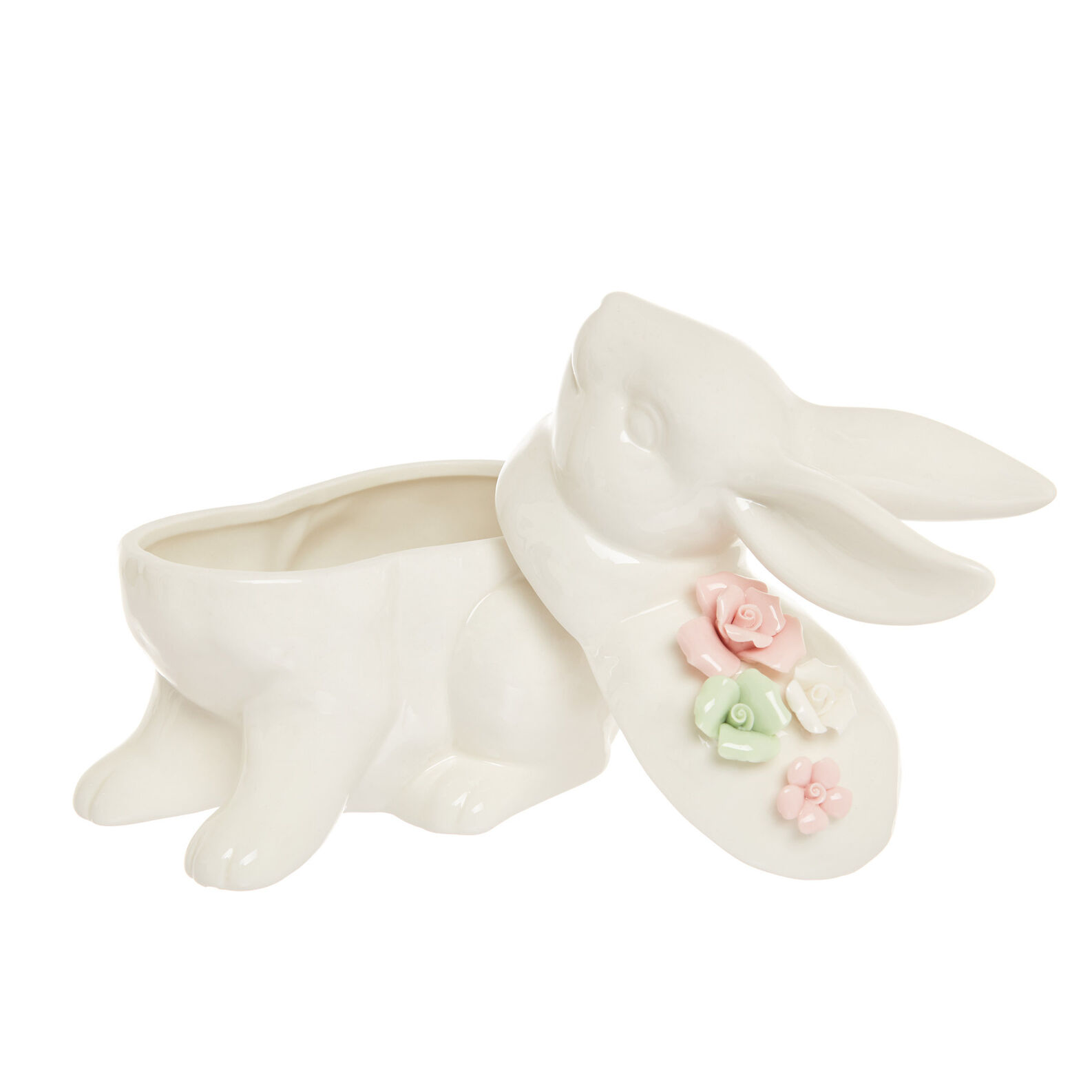 Porcelain rabbit jar