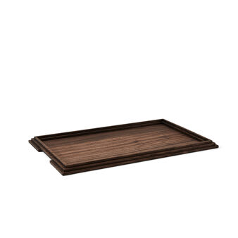 Rectangular tray in walnut wood by Francesco Meda