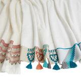Asciugamano puro cotone con nappine