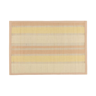 Woven bamboo and cotton table mat