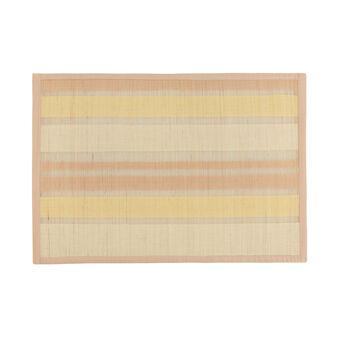 Tovaglietta intrecciata in bamboo e cotone