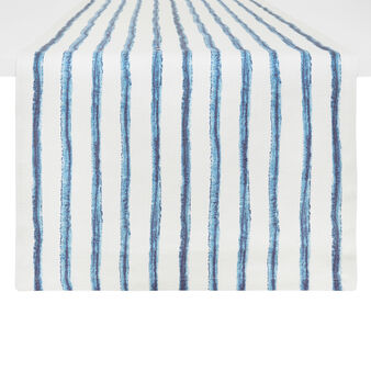 100% cotton table runner with striped print