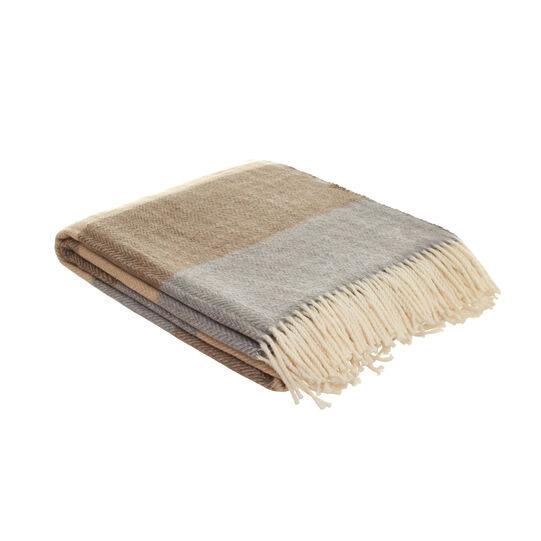 Cotton blend herringbone throw