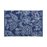 Cotton terry towel with floral pattern