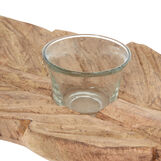 Wood sheet candle holder