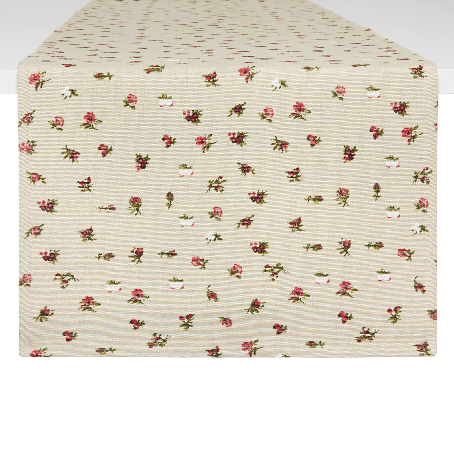 Floral cotton table runner