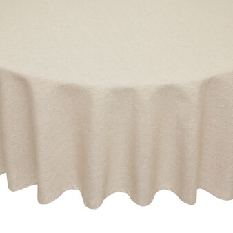 Round tablecloth in 100% cotton with lurex