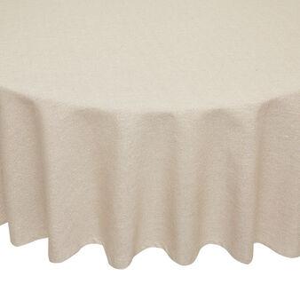 Tovaglia rotonda puro cotone con lurex