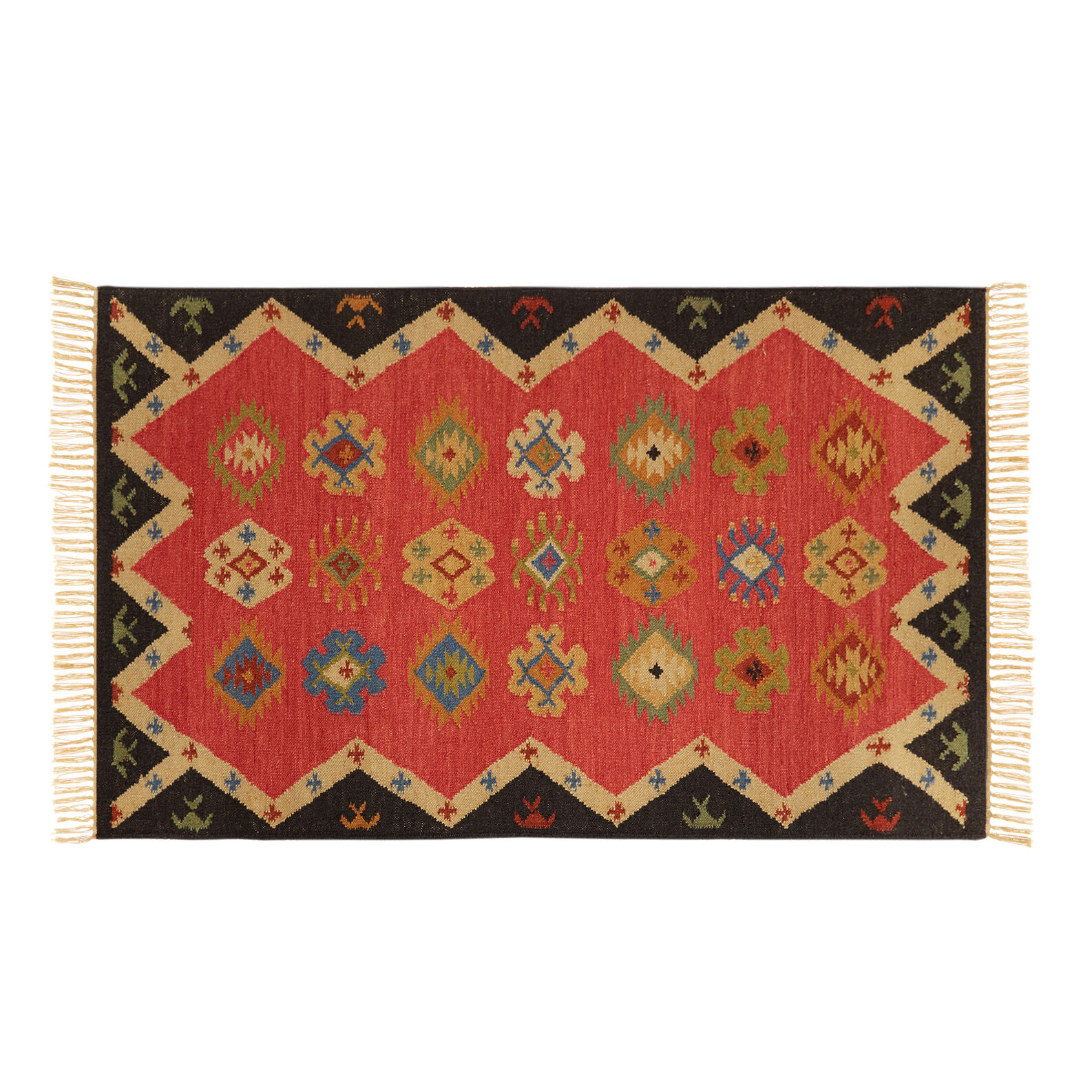 Handwoven kilim in wool and cotton