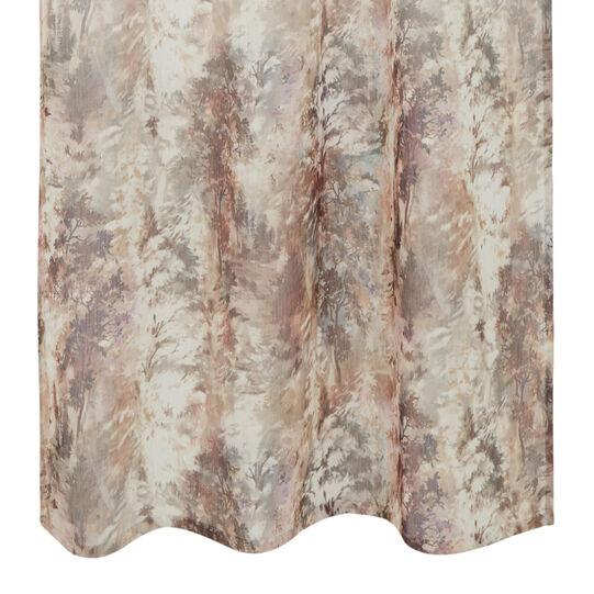 Linen blend curtain with degradè print and hidden tabs