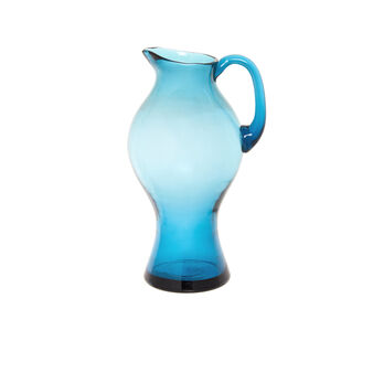 Coloured glass water carafe