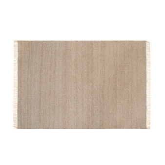 Cotton blend rug with geometric pattern